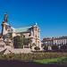 Adam Mickiewicz Statue and Carmelite Church in Warsaw