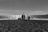 Sunset fishing (frank.gronau) Tags: sunset frank gronau sony alpha 7 san francisco beach ozean atlantik fishing people men männer schwarz weis black white bw reflaction sand
