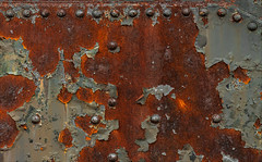 Corrosoburst (Junkstock) Tags: aged abandoned artifact artifacts abstract abstraction color corrosion corroded decay decayed distressed greenbay industrial industry iron patina paint peelingpaint rivets rust rusty rustyandcrusty rusted textures texture trains train weathered wisconsin