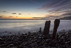 Remnants Pt.2 (MarkWaidson) Tags: porlock weir beach stones sunrise groynes le waves somerset mist colour