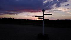 Directions at Sunset (p.wrangles1993) Tags: drone dji mavic landscape sunset orange sky sun directions signpost