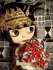 Blythe-a-Day June# 13. Bright Colors&# 20. Flowers: LaVerne La Rue