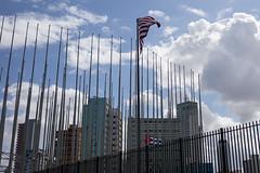 Cuba - American Consulate (In.Deo) Tags: cuba havana malecón street flag embassyoftheunitedstatesofamerica