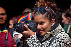 Canon EOS-700D in Action (Owen J Fitzpatrick) Tags: ojf people photography nikon fitzpatrick owen j joe pretty pavement chasing d3100 ireland editorial use only ojfitzpatrick eire dublin republic city tamron beautiful beauty attractive lady pride 2017 june 24 24th 24062017 parade march festival lgbt lgbtq stephens green south assembly premarch rainbow diversity spectrum portrait candid candidphotography candidphoto unposed natural woman female hold camera canon eos 700d eos700d shooter photographer shades sunglasses brunette hair bun 55250mm efs zoom lens dslr digital