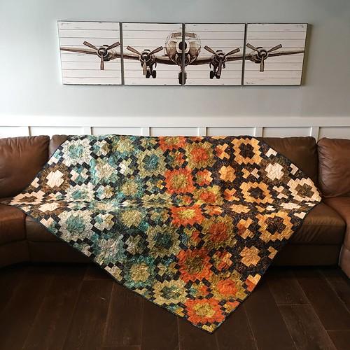 Batik Tile - finished