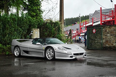 Silver (Stefano Bozzetti) Tags: ferrari f50 scuderiaferrari ferrarif50 silverferrari silverferrarif50 italian exotic car supercar automotive rare expensive vehicle collection rain wet wheater spa francorchamps spafrancorchamps classic spaclassic spaclassic2017 meeting 19bozzy92 2017