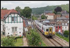 NMBS 659 - R 5031 (Spoorpunt.nl) Tags: 18 juni 2017 nmbs 659 ms66 klassiek motorwagen trein r 5031 station gare viaduct spa géronstère