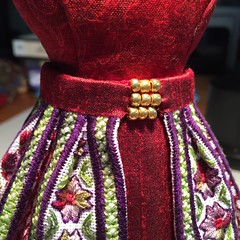 """""""Anne"""" Dress Form - Detailed View (ann-marieanderson-mayes) Tags: beautifulstitches embroidery evenweave needlepoint canvaswork pincushion"""