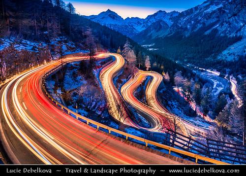 Switzerland - Alps - Maloja Pass - Passo del Maloja at Dusk