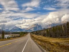 Heading for Saskatchewan Crossing. (Philip Kuntz) Tags: davidthompsonhighway northsaskatchewanriver mtwilson storms stormy saskatchewancrossing banffnationalpark alberta canada