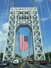 Crossing The George Washington Bridge On Flag Day; Fort Lee, New Jersey (hogophotoNY) Tags: hogophoto flag usflag flagday usaflagday unitedstates drive driving apple iphone iphone6 appleiphone6 bridge whiledriving newyorkbridge newjerseybridge hogo newyorkstate newjersey newyorkusa newjerseyusa