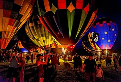 Field Of Colors (Wes Iversen) Tags: balloonsoverbavarianinn frankenmuth hss michigan nikkor18300mm sliderssunday balloons children colorful crowds digitalart hotairballoons men people women