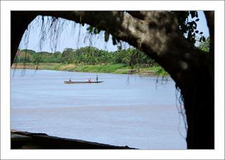 Fin d'après-midi sur le rio Magdalena à Mompox / Colombie