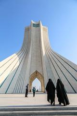 Tehran, Iran (gstads) Tags: iran iranian persia persian tehran ngc azadi azadisquare azadimonument monument architecture square chador chadors