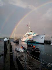 On the Halifax waterfront (langdon10) Tags: halifax harbour rainbow nova scotia rain showers canada
