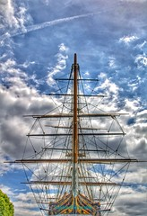 Greenwich (JadeAstraPhotography) Tags: sailing artistic bluesky picture photo photography dslr camera canon london clouds greenwich ship pirateship boat cuttysark