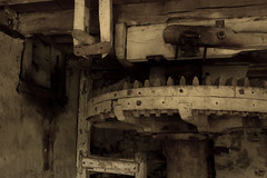 7100-f9-Iso1250-4 (PSHiggins) Tags: mill flour cogs wheel teeth fx d610 nikon fullframe 35mm wales snowdonia ffestiniog tanybwlch penrhyndeudraeth abandoned decay decayed flourmill eryri