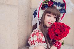 SDF_9608 (SendoFu) Tags: bonnet ボンネット エプロン風スカート blouse bl ブラウス headbow kc カチューシャ bnt 蕾絲 維多利亞 jsk op onepiecedress ワンピース jumperskirt ジャンパースカート nop lolita lolitafashion 蘿莉塔 蘿莉塔時裝 ロリータ・ファッション sweetlolita classicallolita