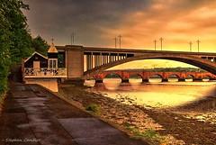 Two Bridges (Light+Shade [spcandler.zenfolio.com]) Tags: ©stephencandlerphotography spcandler stephencandlerphotography httpspcandlerzenfoliocom stephencandler england uk lightshade bridges river rivertweed berwickupontweed northumberland path riverside