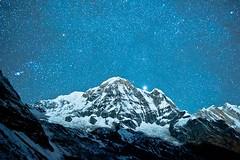 ~ World's 10th highest ~ (peregrinetreks) Tags: abctrek annapurnabasecamp himalayas longexposure nepal nightphotography startrails