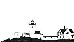 IMG_0203 New England (Cyberlens 40D) Tags: black white monochrome landscapes seascapes lighthouses housing coast newengland blackandwhite canon edited processed effects litho
