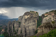 Meteora Drama (James G Photography) Tags: uploadedviaflickrqcom meteora greece rain showers monasteries northerngreece kastraki kalambaka mon sandstone storms trikala thessaliastereaellada gr