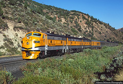 Fresh Paint on 5771 (jamesbelmont) Tags: drgw riogrande f9a 5771 passenger streamliner spanishforkcanyon utah train railroad locomotive emd