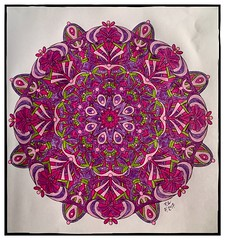 Centered - 003 (ronniesz) Tags: mendalas geometricdesigns whimsical finelinepens coloring adultcoloring