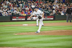 Tony Zych on the mound vs Philadelphia (hj_west) Tags: baseball philadelphiaphillies seattlemariners safecofield mlb interleague stadium night sports