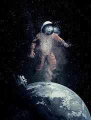 255/365 (lukerenoe) Tags: conceptual composite space spooky eerie 365 edit adventure earth photoshop lukerenoe light levitation sky astronaut skull skeleton