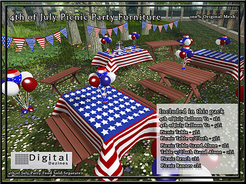 4th July Party - Furniture - 150L$
