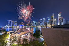 NE Show 1 (rh89) Tags: singapore fireworks firework esplanade national education ne show day parade ndp 2017 nationaldayparade panorama panoramic pano night cityscape city scape urban architecture