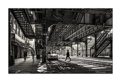 nyc#101 - One Way (Nico Geerlings) Tags: ngimages nicogeerlingsphotography newyorkcity nyc ny usa brooklyn williamsburg marcy marcyavenue subway station streetphotography blackandwhite bw leicammonochrom 28mm elmarit