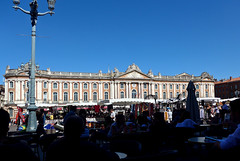 photo - View from Cafe Albert, Place du Capitole, Toulouse (Jassy-50) Tags: photo toulouse france placeducapitole place plaza piazza platz square sidewalkcafe openaircafe cafealbert cafe