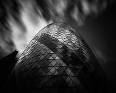The Gherkin (fred@fredadams-photography.com) Tags: architecture bw london cityoflondon design futuristic longexposure minimalism mono monochrome thegherkin urban