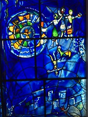 Chagall window detail at the Art Institute of Chicago (JoeGarity) Tags: museum chicago artinstitute stainedglass chagall