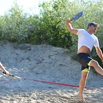 """""""Vega 1"""" pludmales volejbola un tenisa līgas 2.posms, 2017.gada 5.jūlijā. Foto: K.Austere"""