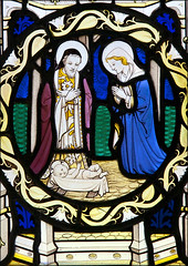 Nunton SChE (brianjw7) Tags: stained glass geoffrey webb 1933 nativity joseph virgin mary standrew nunton wiltshire