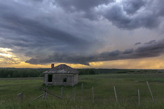 Sunday Storm (Len Langevin) Tags: storm thunder clouds sky tornadowarned alberta canada weather inclement extreme abandoned old farm house nikon d7100 tokina 1116