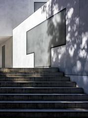 Meisterhaus Moholy-Nagy (thewhitewolf72) Tags: moholynagy bauhaus dessau gropius nachbau brunofiorettimarquez meisterhaus treppe fenster beton geometrie