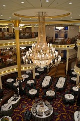 Liberty of the Seas (Jeffrey Neihart) Tags: jeffreyneihart nikon nikkor nikond5100 nikon1855mm ship caribbean royalcaribbean libertyoftheseas diningroom dining chandelier