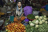 India.3-32 (Trev Thompson) Tags: business cauliflower commerce community culture food foodstall foodvendor imphal india indian lookingatthecamera manipur marketstall markettrader maturewoman people portrait shop shopkeeper tomatoes tourism touristattraction travel vegetables worker