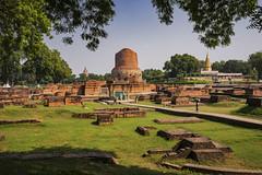 Sarnath (Nebelkuss) Tags: india uttarpradesh sarnath yacimientos ruinasyyacimientos ruins arqueologia archeology budismo budista buddhism buddhist stupa fujixt1 fujinonxf23f14