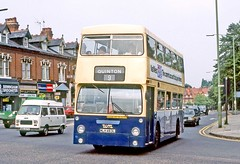 West Midlands PTE: 5580 (MLH463L) in Hagley Road, Bearwood (Mega Anorak) Tags: bus daimler fleetline crg6lxb mcw westmidlands pte londontransport dms