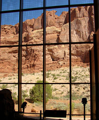 Visitors Center, Arches NP, Utah 8-12 (inkknife_2000 (8 million views +)) Tags: archesnationalpark utah redrock naturalarches nationalparksofamerica america usa landscapes scenery dgrahamphoto picturewindow viewthroughwindow visitorscenter
