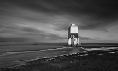 Burnham Light. (Go placidly amidst the noise and haste...) Tags: somerset southwest coast coastal blackwhite longexposure le highcontrast lowkey blackwhitepassionaward burnhamonsea cloudsstormssunsetssunrises