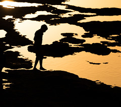 Akko (JoshyWindsor) Tags: canonef70300mmf456l silhouette sunset travel rockpools golden boy israel canoneos6d coastal holiday akko