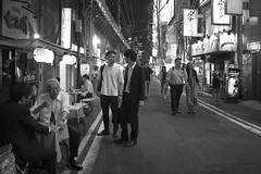 PAIRING (ajpscs) Tags: ajpscs japan nippon 日本 japanese 東京 tokyo city people ニコン nikon d750 tokyostreetphotography streetphotography seasonchange summer natsu なつ 夏 street shitamachi monochromatic grayscale monokuro blackwhite blkwht bw blancoynegro othersideoftokyo strangers blackandwhite monochrome urban walksoflife 白&黒 izakaya salaryman attheendoftheday onefortheroad streetoftokyo together pairing