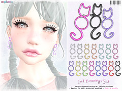 Cat Earrings Set (::: insanya ::: & [ bubble ]) Tags: secondlife bubble originalmesh accessories earrings cats cat mesh hud thechapterfour exclusive under100l