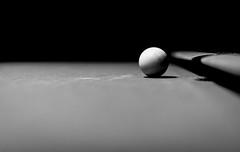Cue Ball (Roy Manchester) Tags: eastdurham newyork unitedstates us 5dsr 50mm12l 50mm12 50mmprime availablelight blackwhite bokeh canon canonllenses eos ef gps geotag pool monochrome life llenses light